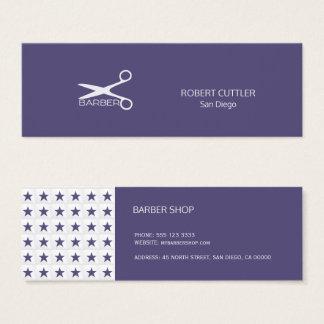 Tarjeta De Visita Mini Modelo de estrella gris de la marina de guerra