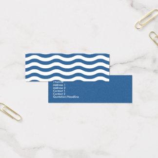 Tarjeta De Visita Mini Modelo de onda azul blanco - fondo adaptable