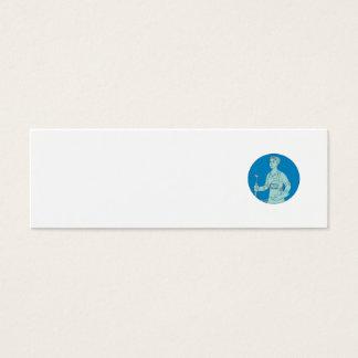 Tarjeta De Visita Mini Mono línea del soldador de la antorcha femenina de