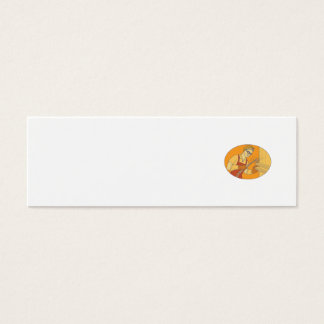 Tarjeta De Visita Mini Mono línea del soldador del vintage femenino de la