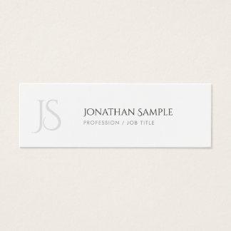 Tarjeta De Visita Mini Monograma de moda elegante simple del diseño