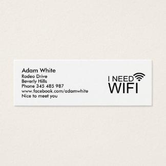 Tarjeta De Visita Mini Necesito Internet del wifi