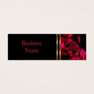 Tarjeta De Visita Mini Negro del rosa del metal del extracto de la