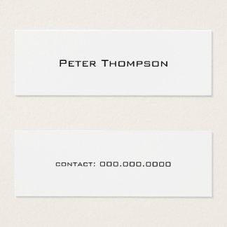 Tarjeta De Visita Mini nombre del minimalist apenas con blanco del