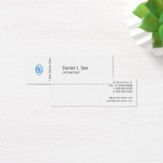 Tarjeta De Visita Mini Ojo-Estafa azul del estilo de la prensa de copiar