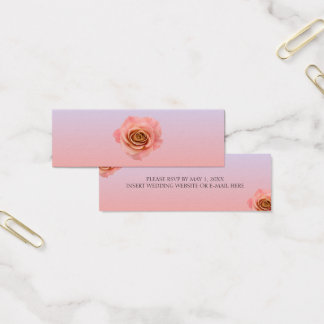 Tarjeta De Visita Mini Ombre mini RSVP floral