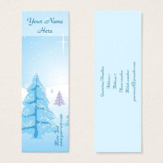 Tarjeta De Visita Mini Paisaje del navidad