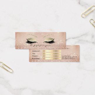 Tarjeta De Visita Mini Pequeño maquillaje flaco del latigazo del