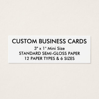 Tarjeta De Visita Mini Plantilla en blanco personalizada personalizado de