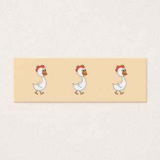 Tarjeta De Visita Mini Pollo del dibujo animado