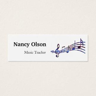Tarjeta De Visita Mini Profesor de música de las notas musicales