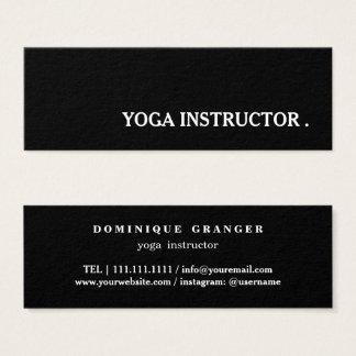 Tarjeta De Visita Mini Profesor del instructor de la yoga