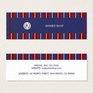 Tarjeta De Visita Mini Rayas diagonales blancas de la marina de guerra