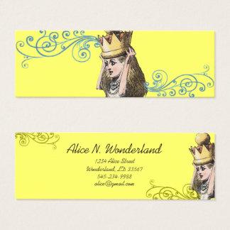 Tarjeta De Visita Mini Reilaboration de la corona del chica del ejemplo