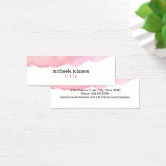 Tarjeta De Visita Mini Rosa elegante de la acuarela mínimo