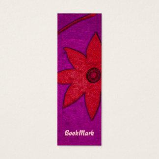 Tarjeta De Visita Mini señal colorida de la flor