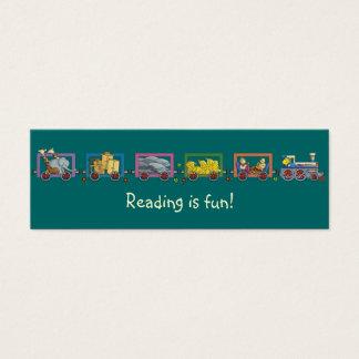 Tarjeta De Visita Mini Señal divertida del tren