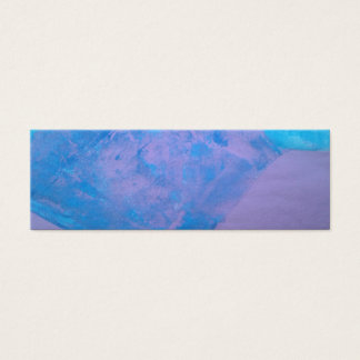 Tarjeta De Visita Mini Señales azules y púrpuras del arte