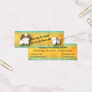 Tarjeta De Visita Mini Servicio del canguro del mascota del gato del