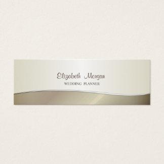 Tarjeta De Visita Mini Simple elegante elegante