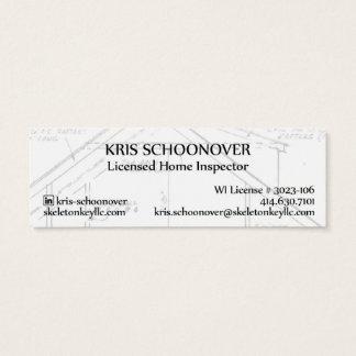Tarjeta De Visita Mini Skeleton Key Tag Mini Business Card