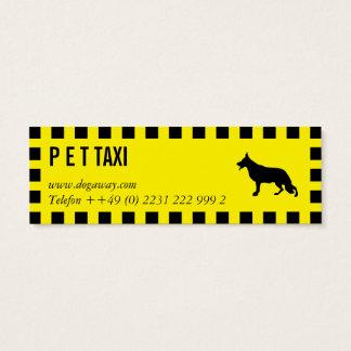 Tarjeta De Visita Mini Taxi de Hunde
