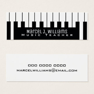 Tarjeta De Visita Mini teclado del músico/profesor de música de las