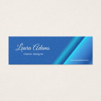 Tarjeta De Visita Mini Textura azul de la pendiente abstracta