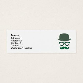Tarjeta De Visita Mini Vidrios del bigote, de Derby y del ojo