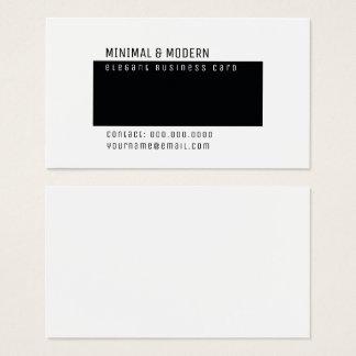 Tarjeta De Visita minimalist elegante mínimo y moderno
