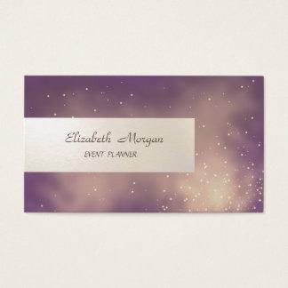 Tarjeta De Visita Minimalist elegante, rayado, brillante