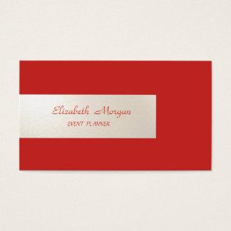 Tarjeta De Visita Minimalist elegante, rayado, rojo