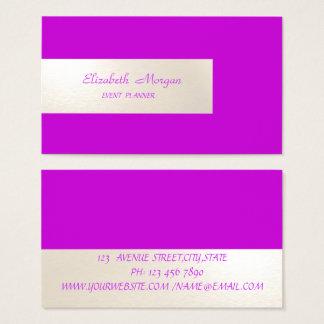 Tarjeta De Visita Minimalist elegante, simple, rayado