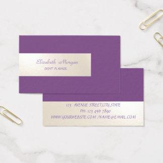 Tarjeta De Visita Minimalist elegante, simple, rayado, púrpura