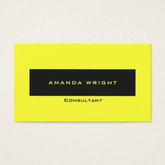 Tarjeta De Visita Minimalist moderno amarillo en colores pastel