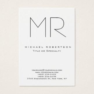 Tarjeta De Visita Minimalist moderno de moda del llano del monograma