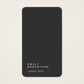 Tarjeta De Visita Minimalist moderno de moda gris llano simple