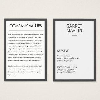 Tarjeta De Visita Minimalist moderno (gris/blanco)