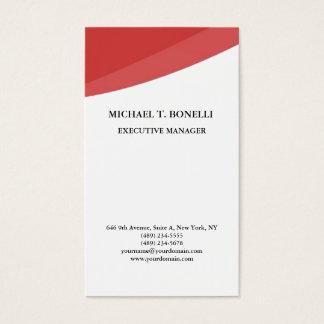 Tarjeta De Visita Minimalist profesional clásico de las curvas rojas