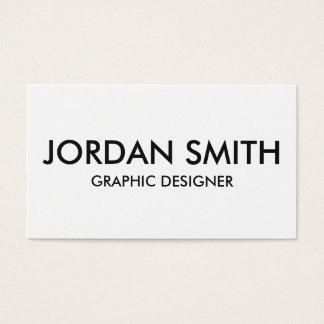 Tarjeta De Visita Minimalist simple blanco profesional moderno