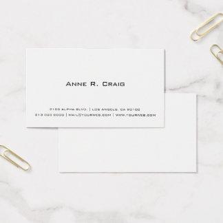 Tarjeta de visita minimalista contemporánea