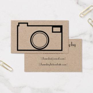Tarjeta de visita minimalista de la fotografía