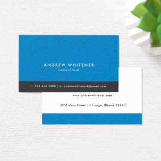 Tarjeta De Visita Minimalistic azul profesional
