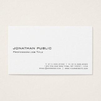 Tarjeta De Visita Minimalistic profesional blanco elegante moderno