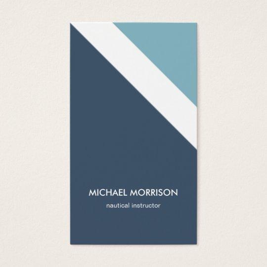 Tarjeta De Visita Mint blue nautical stripes modern masculine smart