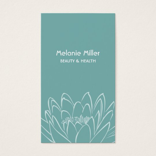 Tarjeta De Visita Mint lilypad flower beauty wellness elegant card