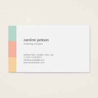 Tarjeta De Visita Mint yellow white minimal elegant feminine card