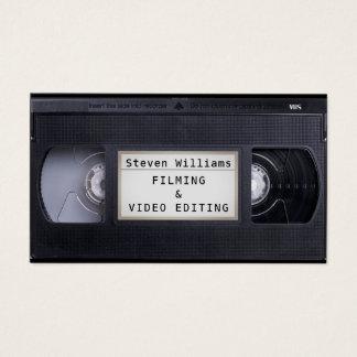Tarjeta De Visita Mirada del estilo retro del casete de VHS falsa