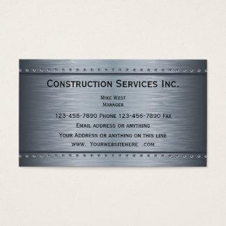 Tarjeta De Visita Mirada metálica de la construcción