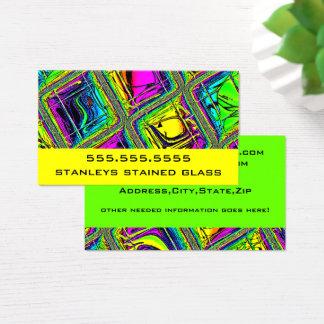 Tarjeta De Visita Mirada tejada colorida del vitral